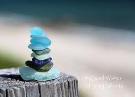beach glass photography sea glass cairn