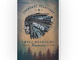 Cherokee Wall Art Etsy