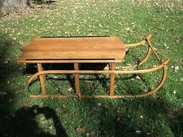 fantastic wood sleigh coffee table