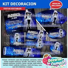 Kit Imprimible Michael Jackson Invitacion Decoracion D69 29 00