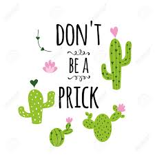 funny hand drawn prickly cactus print funny quote home decor