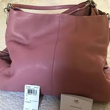 coach bags shadow rose color small