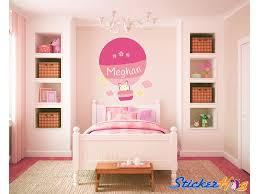 Custom Hot Air Balloon Baby Bunny Name Monogram 2 Girls Boys Wall Decal Graphic Vinyl Sticker Home Bedroom Nursery Wall Decor