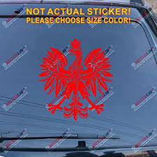 Amazon Com Polish Eagle Coat Of Arms Of Poland Polski Decal Sticker Car Vinyl Pick Color Size Red 8 20 3cm Arts Crafts Sewing
