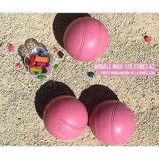 Boule de petanque rose Inox + coffret + sacoche | Boule de ...