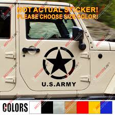 Universal 50cmx50cm White Car Suv Decal Distressed Army Star Hood Decal Stickers Ushirika Coop