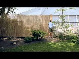 Installing A Bamboo Friendly Fence On A Chain Link Fence Youtube