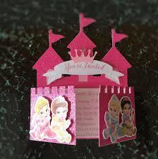 Invitacion De Disney Baby Princess Castle Invitaciones Fiesta
