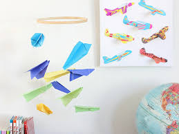 Paper Airplane Mobile For Kids Room Fun365