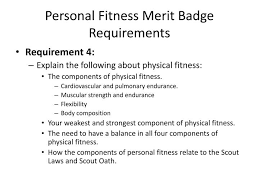 personal fitness requirements fitness