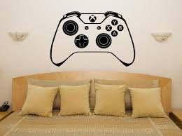 Xbox One Controller Gamepad Children S Bedroom Decal Wall Art Sticker Picture Ebay Sticker Wall Art Bedroom Decals Decal Wall Art
