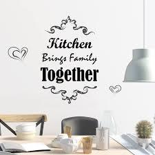 Shop Walplus Kitchen Quote Wall Sticker Decal Home Decoration Diy Art Set 2 Overstock 31770438