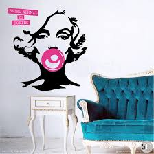Marilyn Monroe Bubble Gum Normal Is Boring Wall Decal Graphicsmesh