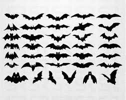 Sheet Of 36 Bats Halloween Decor Halloween Decals Bats Decals Bats Stickers Halloween Bats Decorations Halloween Silhouettes Bat Silhouette Halloween Bats