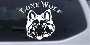 Lone Wolf Head Car Or Truck Window Laptop Decal Sticker Ebay