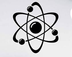 Atom Wall Decal Etsy