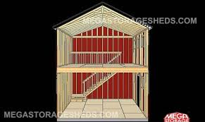 story storage shed plans two barn style