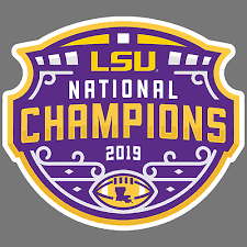 2019 National Champions Lsu Tigers Vinyl Sticker Car Truck Window Decal Sec 2 75 Picclick