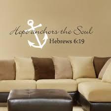 Hope Anchors The Soul Wall Decal Scripture Wedding Hebrews 6 19 Word Vinyl Decor Ebay