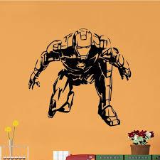Iron Man Wall Decal Helmet Mask Art Gold For Home 3d Vamosrayos