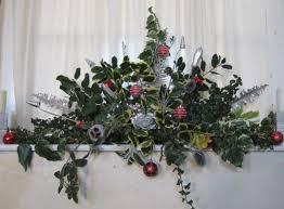 christmas flower arrangement church