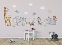 Safari Wall Decal Girls Safari Wall Sticker Nursery Safari Nursery Wal Kidscutedecorations