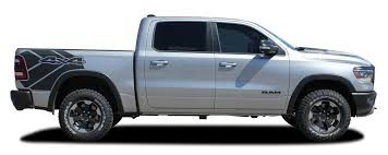 Revolution Sides 2019 2020 Dodge Ram Rebel Side Bed Decals Vinyl Graphic Stripe Kit Moproauto Professional Vinyl Graphics And Striping