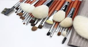 copper best makeup brushes with goat hair
