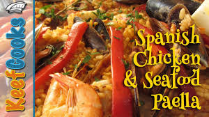 Spanish Chicken and Seafood Paella ...