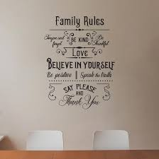 Family Rules Wall Art Decal Sticker Decals Market