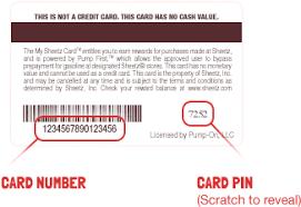 register sheetz rewards card