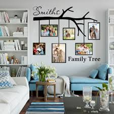 Large Personalized Name Family Tree With Picture Frames Wall Sticker Bedroom Living Room Love Branch Photo Frames Decal Nursery Wall Stickers Aliexpress