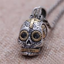 925 sterling silver sugar skull