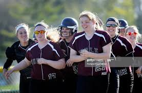 Noble was all smiles after Abby Lewis, hit a three run home run ...