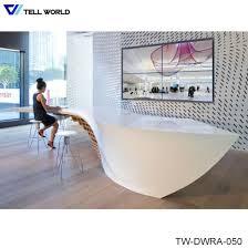 leather high gloss reception desk