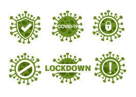 novel corona virus or covid 19 icon set