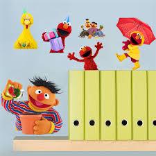 10pcs Pack Sesame Street Wall Stickers Vinyl Decal Nursery Decor Gift 031 Free Shipping Wall Stickers Aliexpress