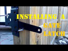 How To Install A Gate Latch Youtube