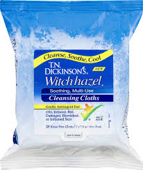 witch hazel cleansing cloths
