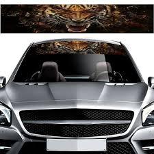 1 Pcs 3d Transparent Car Front Windshield Decal Vinyl Diy Sticker Tiger Ebay
