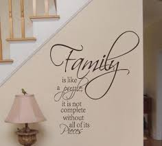 family is like a puzzle word quote wall sticker removable home