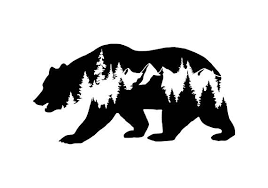 Bear Decal Car Decals Mountain Stickers Laptop Decal Adventure Decal Decals For Yeti Accessories For Jeep Animals Animal Vinyl Decal Bear Decal Mountain Decal Vinyl Decals