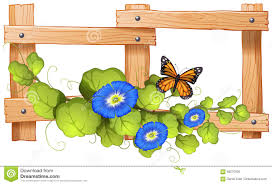 Fence Design With Plant And Butterfly Stock Vector Illustration Of Safety Object 69270055