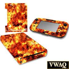 Wii U Flame Skin Decal Nintendo Wii U Decal Sticker Console Etsy
