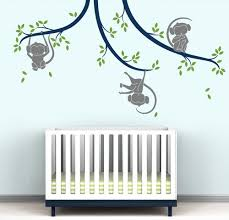 Monkey Tree Branches Wall Decal Lake Collection Littlelion Studio