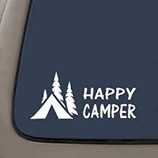 Amazon Com Ni144 Happy Camper Camping Decal For Truck Suv Window Vinyl Sticker 7 5 Automotive