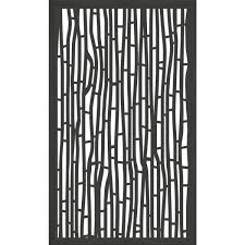 Modinex 5 Ft X 3 Ft Framed Charcoal Gray Decorative Composite Fence Panel Featured In The Bali Design Usamod2cf The Home Depot