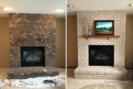 painting brick fireplace ideas