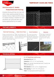 Temporary Chain Link Fence Catalog