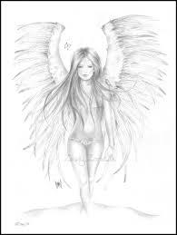 Pencil Drawings Of Angels Google Search Engel Tekening Haar